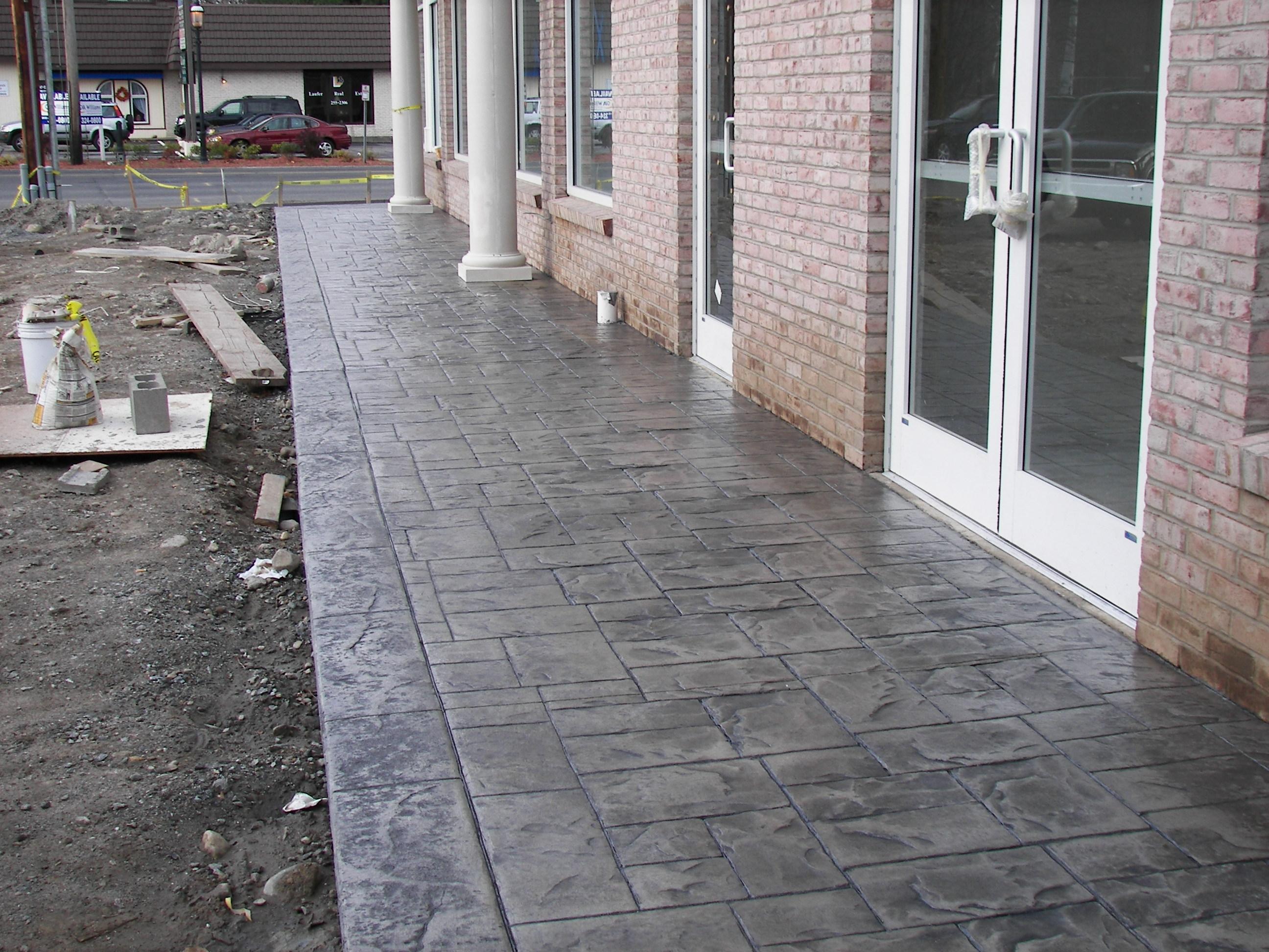 Des chantiers en b ton imprim un sol parfait for Prix beton imprime