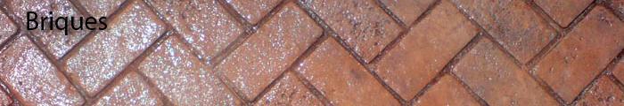 Béton estampé briques