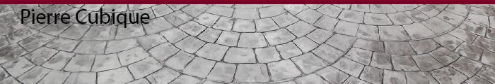 Béton estampé pierre cubique