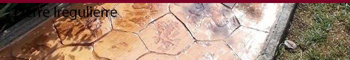 Béton estampé pierre iregulierre