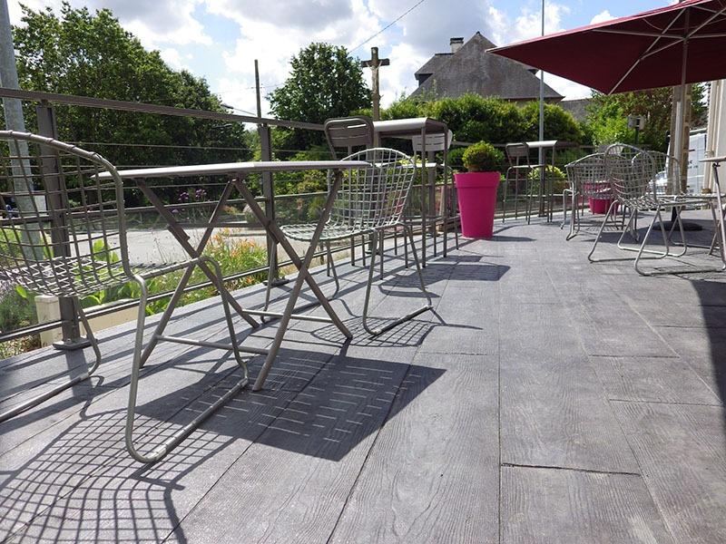 Tarif m2 pour une terrasse en béton imprime